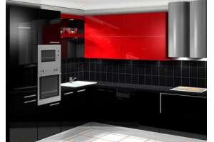 Кухонная мебель из ЛДСП, МДФ-глянцевая пленка ПВХ